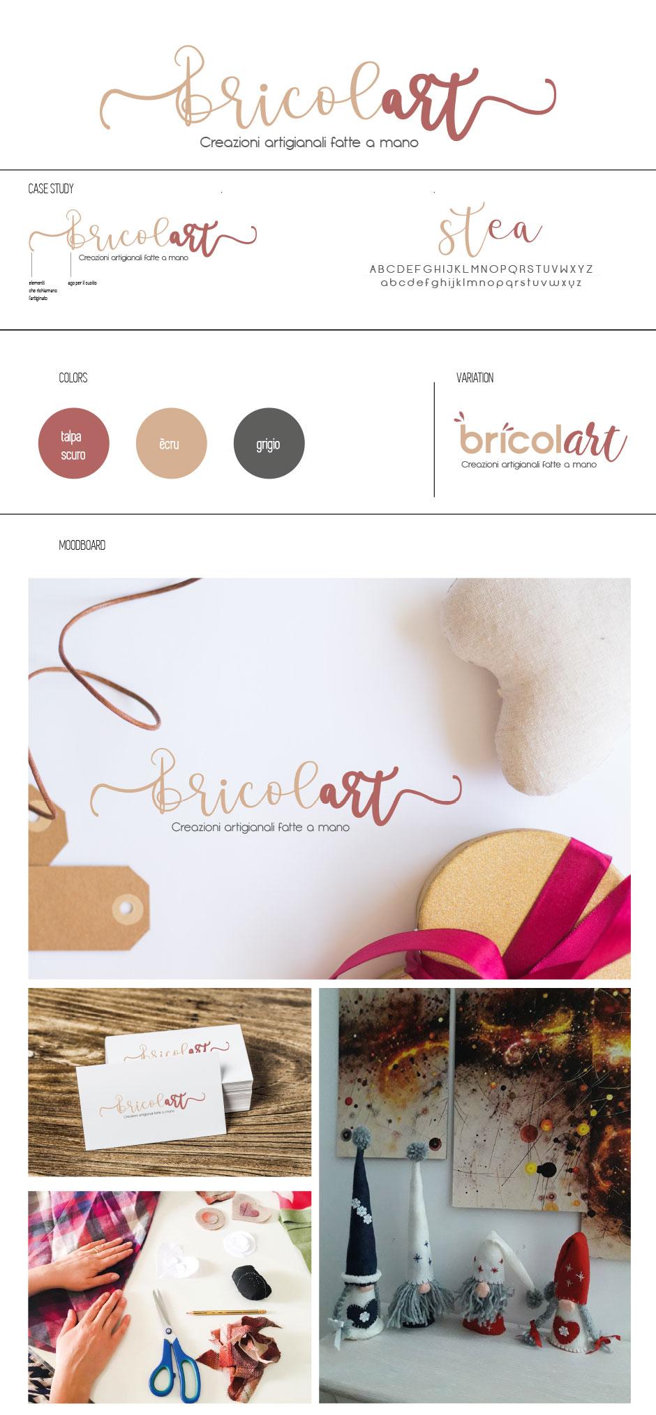bricolart logo branding artigianato handmade salerno