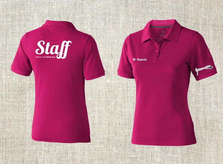 stampa t-shirt polo abbigliamento personalizzato low cost grafica e comunicazione centro estetico salerno