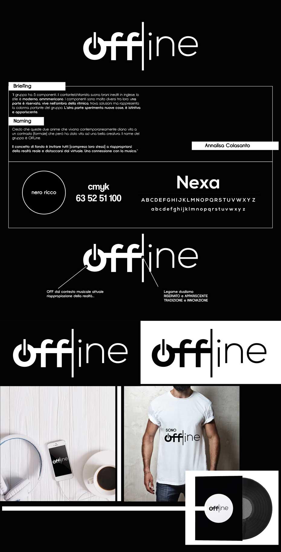 concept logo offline band musicale jazz