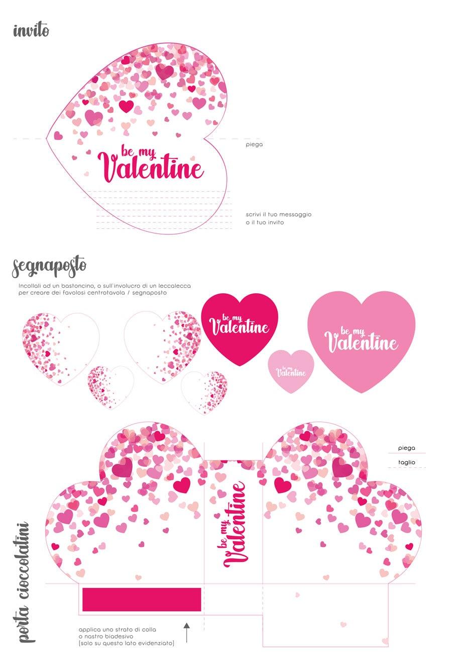 scarica il kit stampabile di san valentino